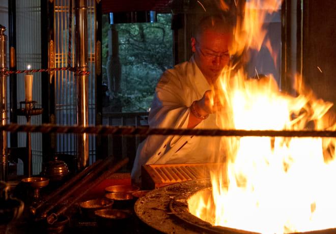 OITA 2019 Oct  OMOTENASHI】Pray for good luck! Gomataki(Fire